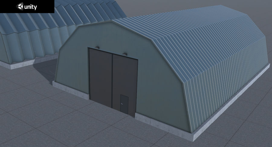 Hangars Collection royalty-free 3d model - Preview no. 27