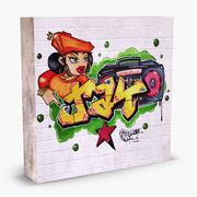 Graffiti Wall V2 3d model