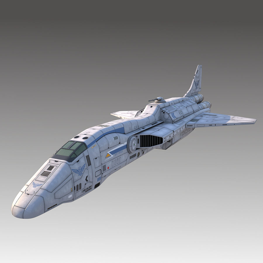 space escort Cruiser royalty-free 3d model - Preview no. 1