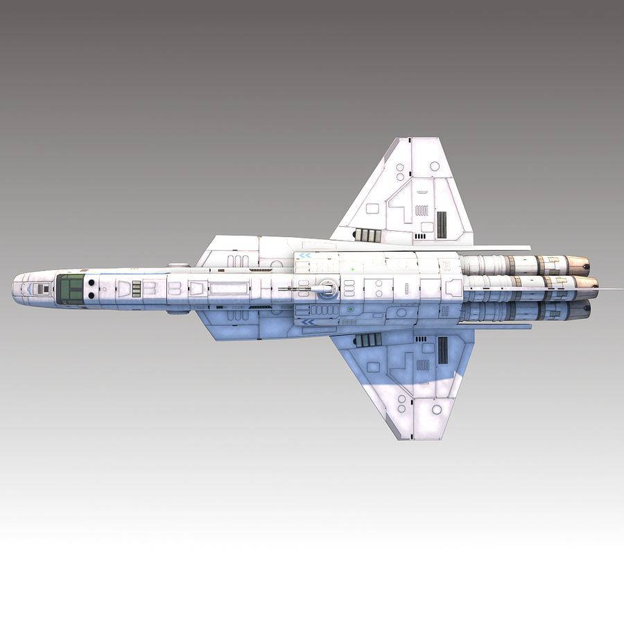 space escort Cruiser royalty-free 3d model - Preview no. 7