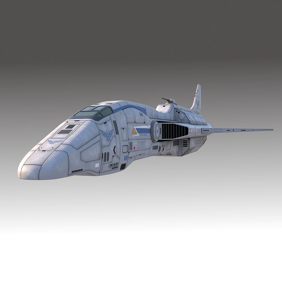 space escort Cruiser royalty-free 3d model - Preview no. 3