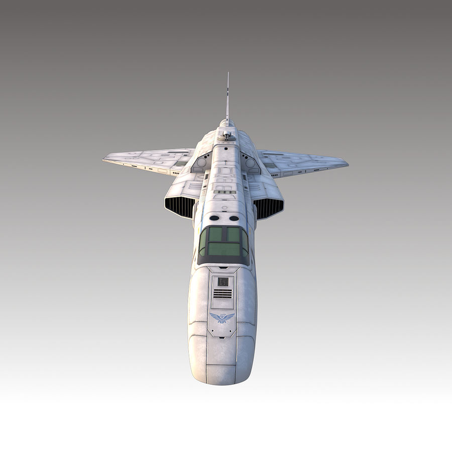 space escort Cruiser royalty-free 3d model - Preview no. 8