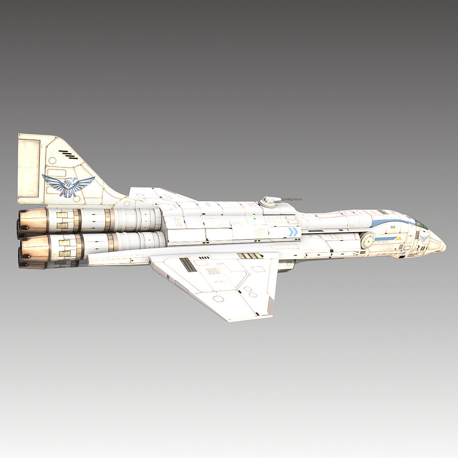 space escort Cruiser royalty-free 3d model - Preview no. 11