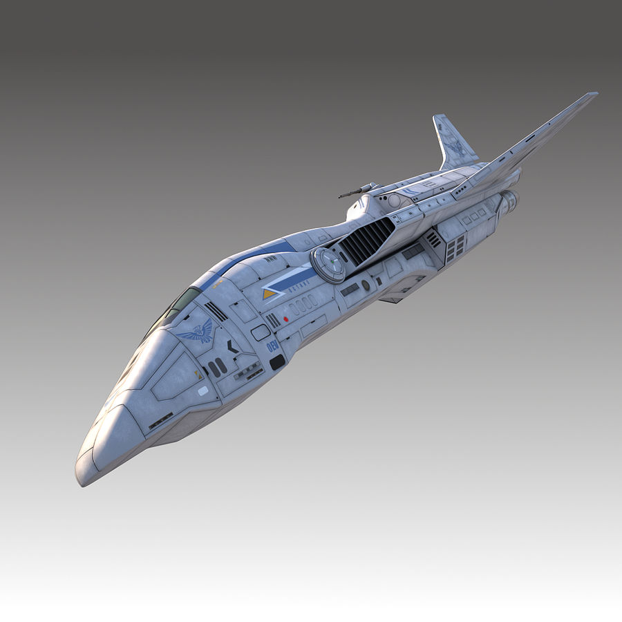 space escort Cruiser royalty-free 3d model - Preview no. 2