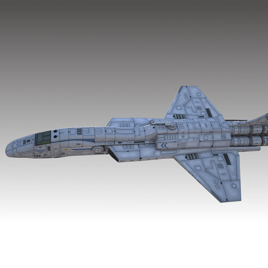 space escort Cruiser royalty-free 3d model - Preview no. 5