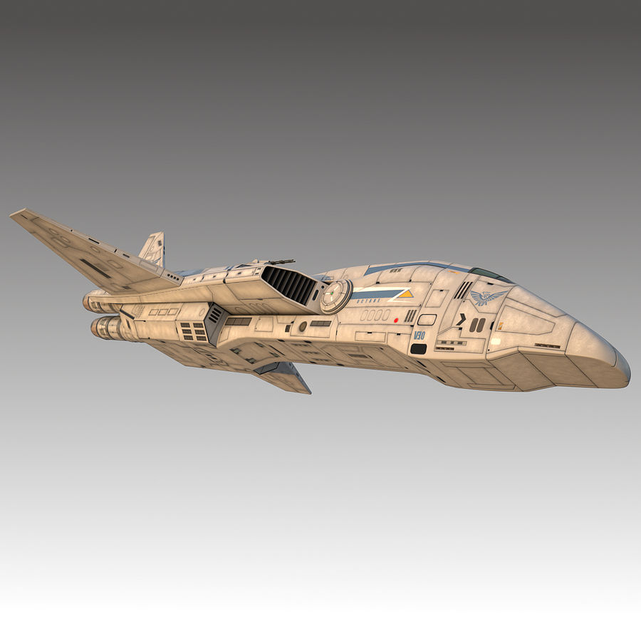 space escort Cruiser royalty-free 3d model - Preview no. 13