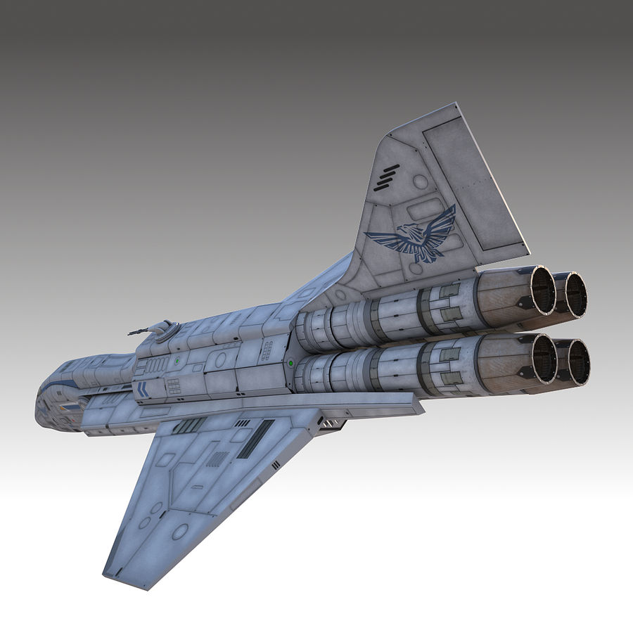 space escort Cruiser royalty-free 3d model - Preview no. 6