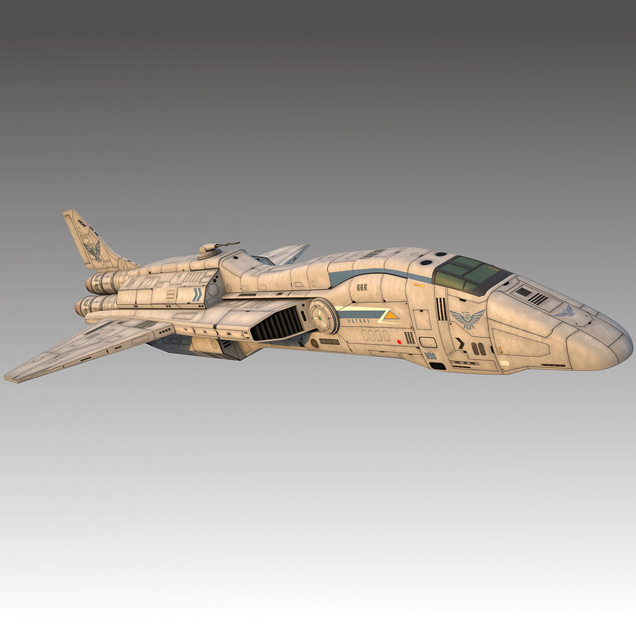 space escort Cruiser royalty-free 3d model - Preview no. 12