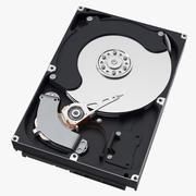 Dator hårddisk - öppen 3d model