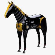 Robot caballo aparejado modelo 3d