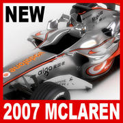 2007 Vodafone McLaren Mercedes MP4-22 3d model