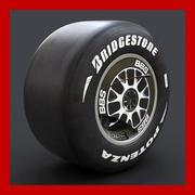 F1 F60 Wheel and Slicks 3d model