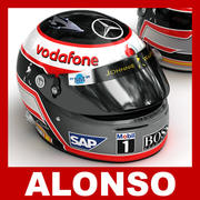 Fernando Alonso 2007 F1 Helm 3d model