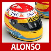 Helmet F1 2009 Fernando Alonso 3d model