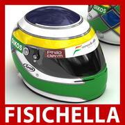 Helmet F1 2008 Giancarlo Fisichella 3d model
