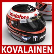 Helmet F1 2009 Heikki Kovalainen 3d model