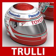 Helmet F1 2008 2009 Jarno Trulli 3d model