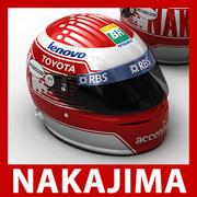 Kazuki Nakajima F1 Helm 3d model