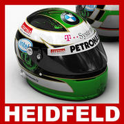 Nick Heidfeld F1-helm 3d model