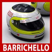 Helmet F1 2009 Rubens Barrichello 3d model