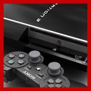 Playstation 3和Dualshock 3控制器 3d model