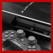 Playstation 3 and Dualshock 3 Controller  3d model