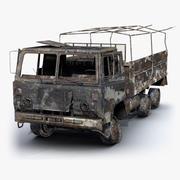 Truck Burnt 02 3d model