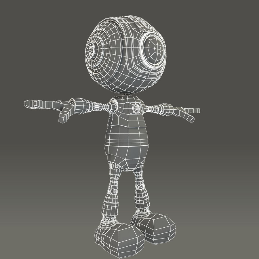 Blauwe robot royalty-free 3d model - Preview no. 18