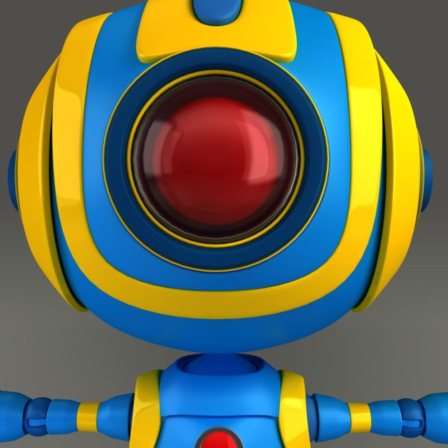 Blauwe robot royalty-free 3d model - Preview no. 7