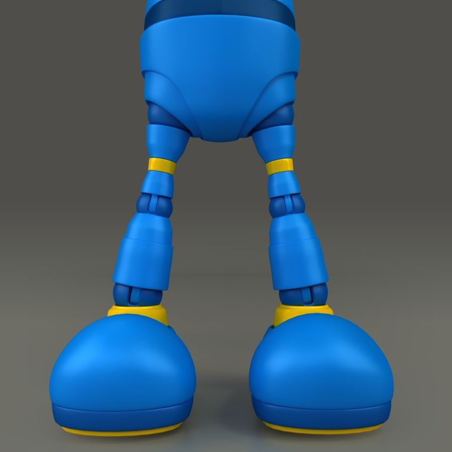 Blauwe robot royalty-free 3d model - Preview no. 12