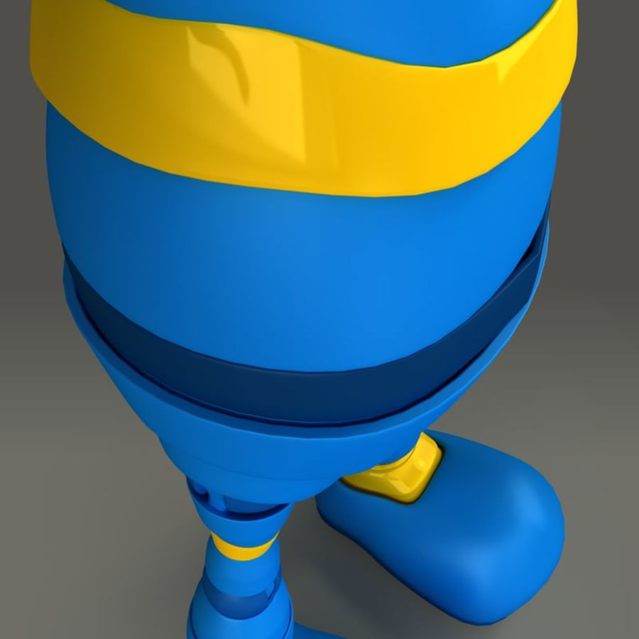 Blauwe robot royalty-free 3d model - Preview no. 11