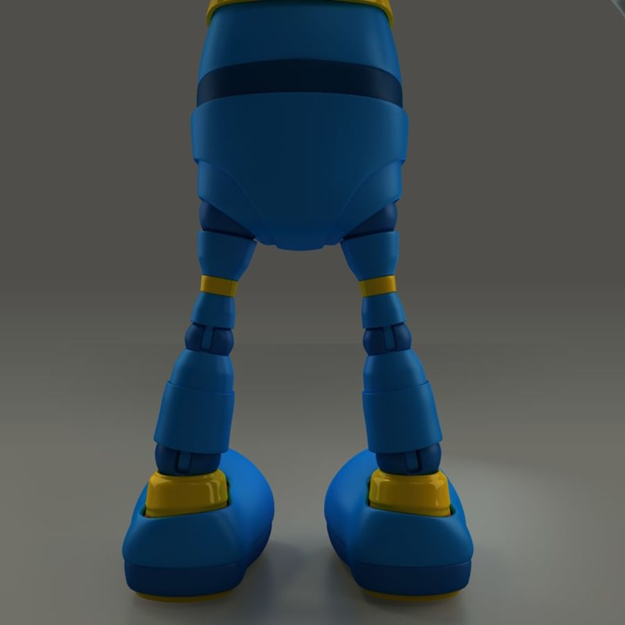 Blauwe robot royalty-free 3d model - Preview no. 13