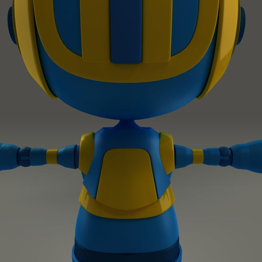 Blauwe robot royalty-free 3d model - Preview no. 8
