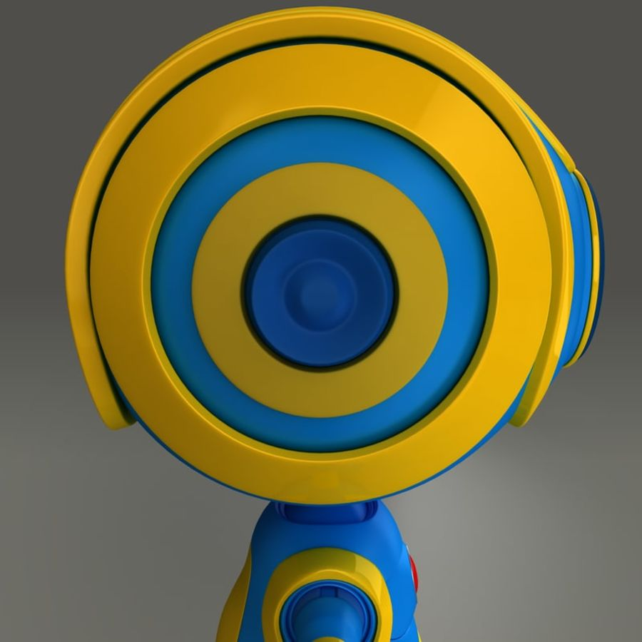 Blauwe robot royalty-free 3d model - Preview no. 9