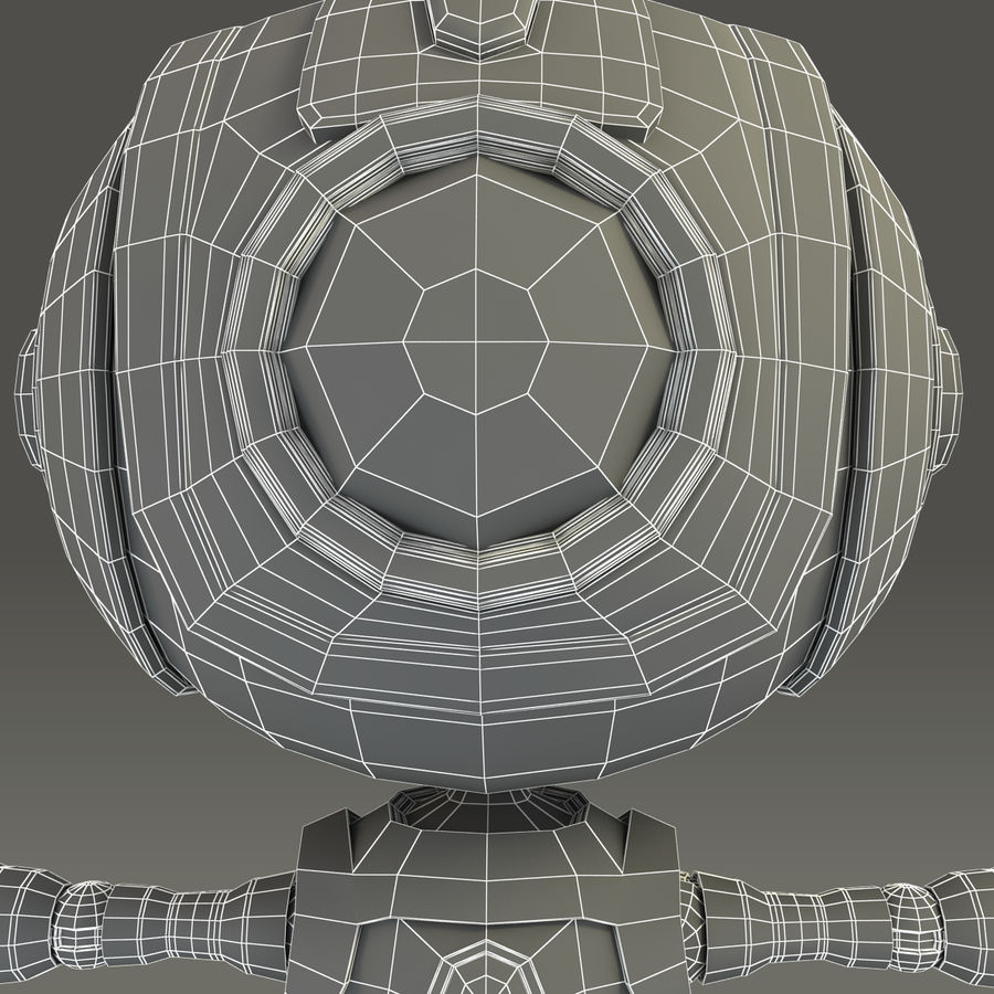 Blauwe robot royalty-free 3d model - Preview no. 20