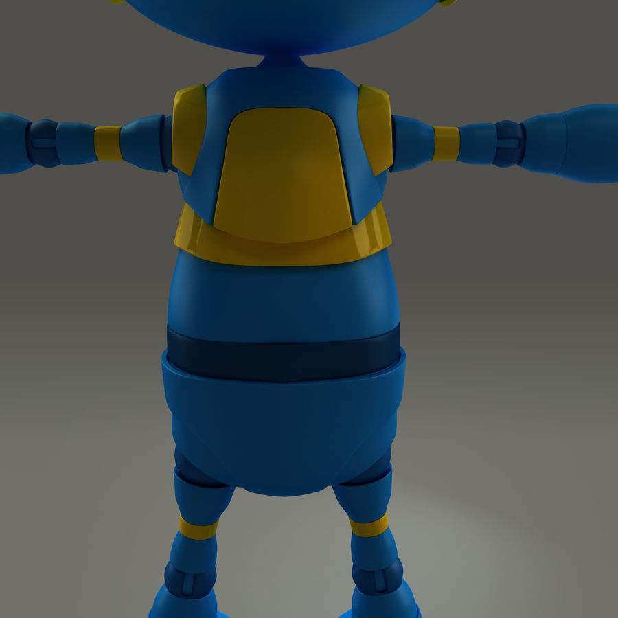 Blauwe robot royalty-free 3d model - Preview no. 14