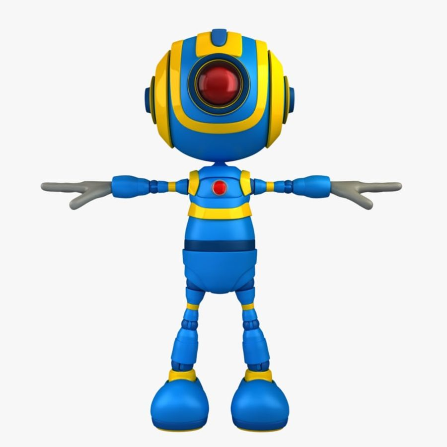Blauwe robot royalty-free 3d model - Preview no. 1