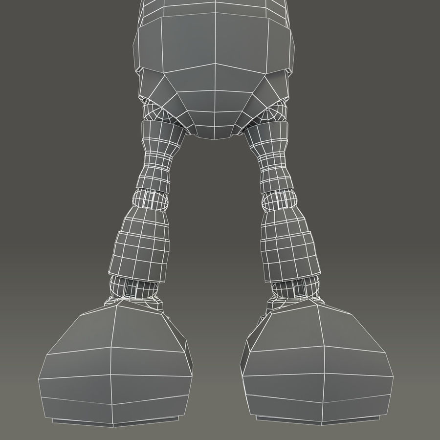 Blauwe robot royalty-free 3d model - Preview no. 25