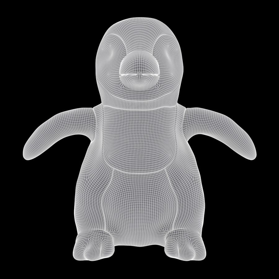 Baby Emperor Penguin Plush royalty-free 3d model - Preview no. 7