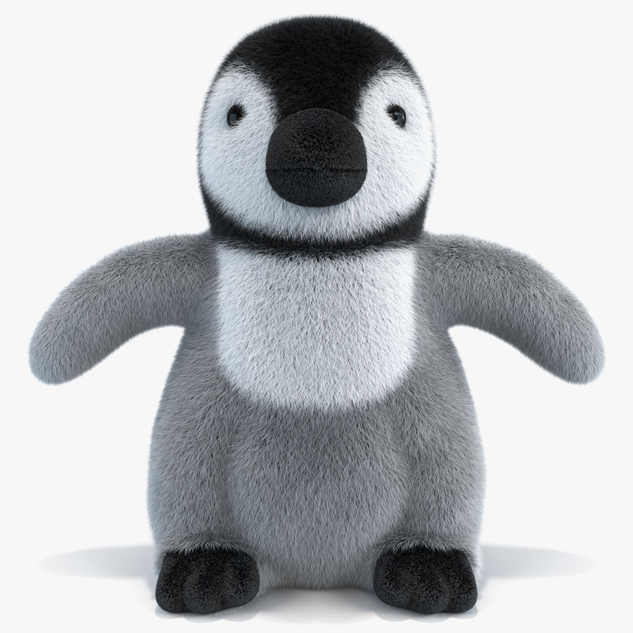 Baby Emperor Penguin Plush royalty-free 3d model - Preview no. 1