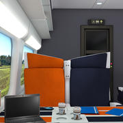 Interior do trem 3d model