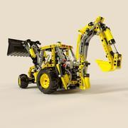 Jouet tracteur Lego 3d model
