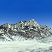 Рельеф горного хребта Аляска 34 Пейзаж 3d model