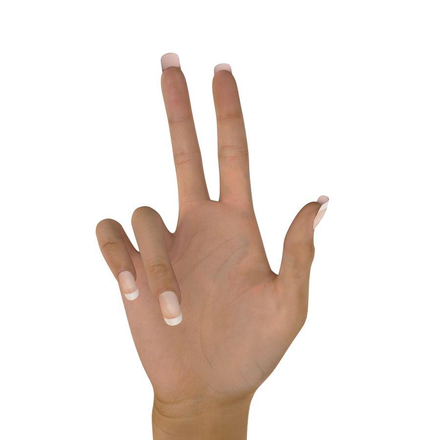 Main femelle truquée pour Maya royalty-free 3d model - Preview no. 36