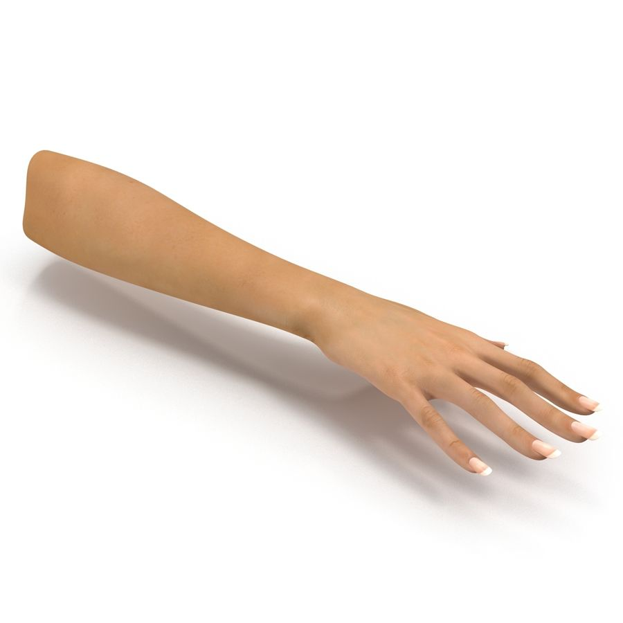 Main femelle truquée pour Maya royalty-free 3d model - Preview no. 20