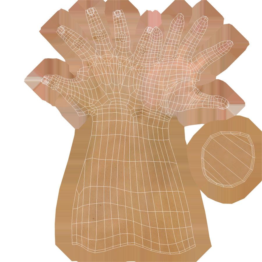 Main femelle truquée pour Maya royalty-free 3d model - Preview no. 44