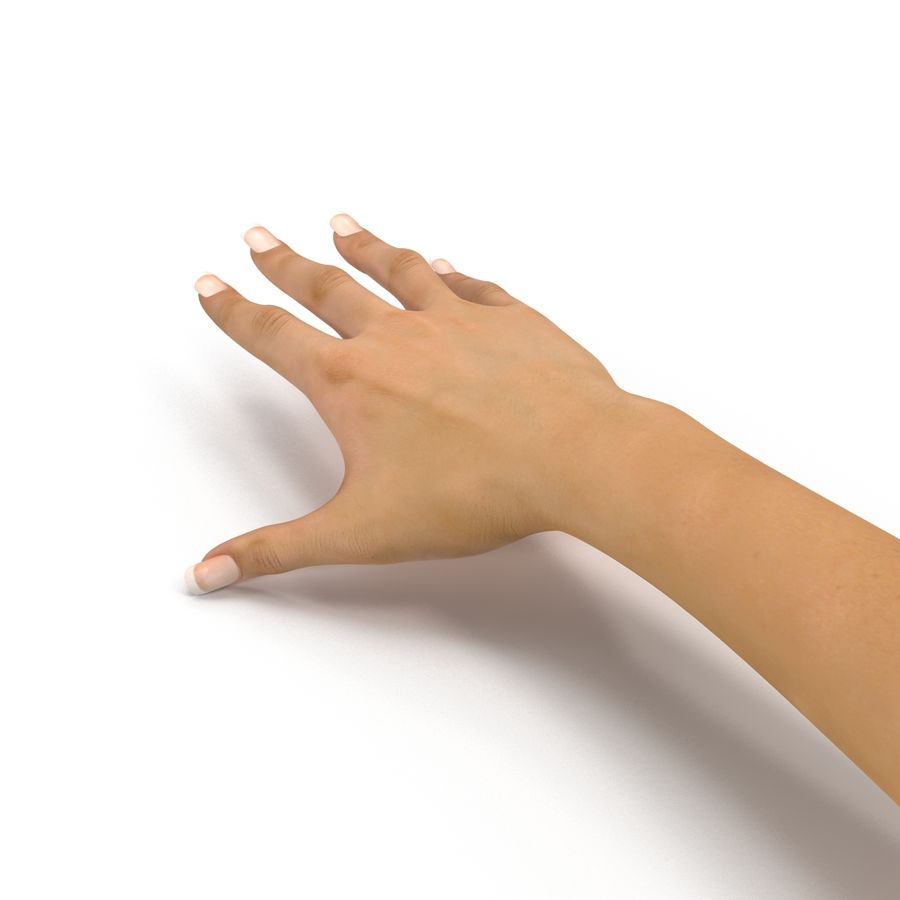 Main femelle truquée pour Maya royalty-free 3d model - Preview no. 27