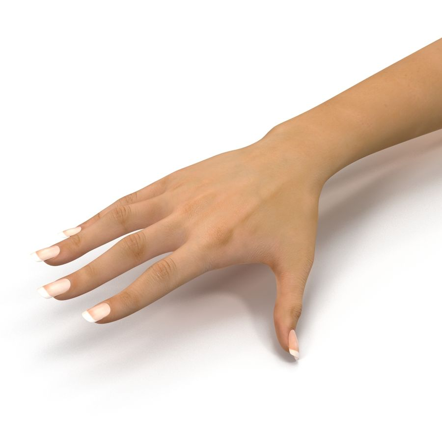 Main femelle truquée pour Maya royalty-free 3d model - Preview no. 21