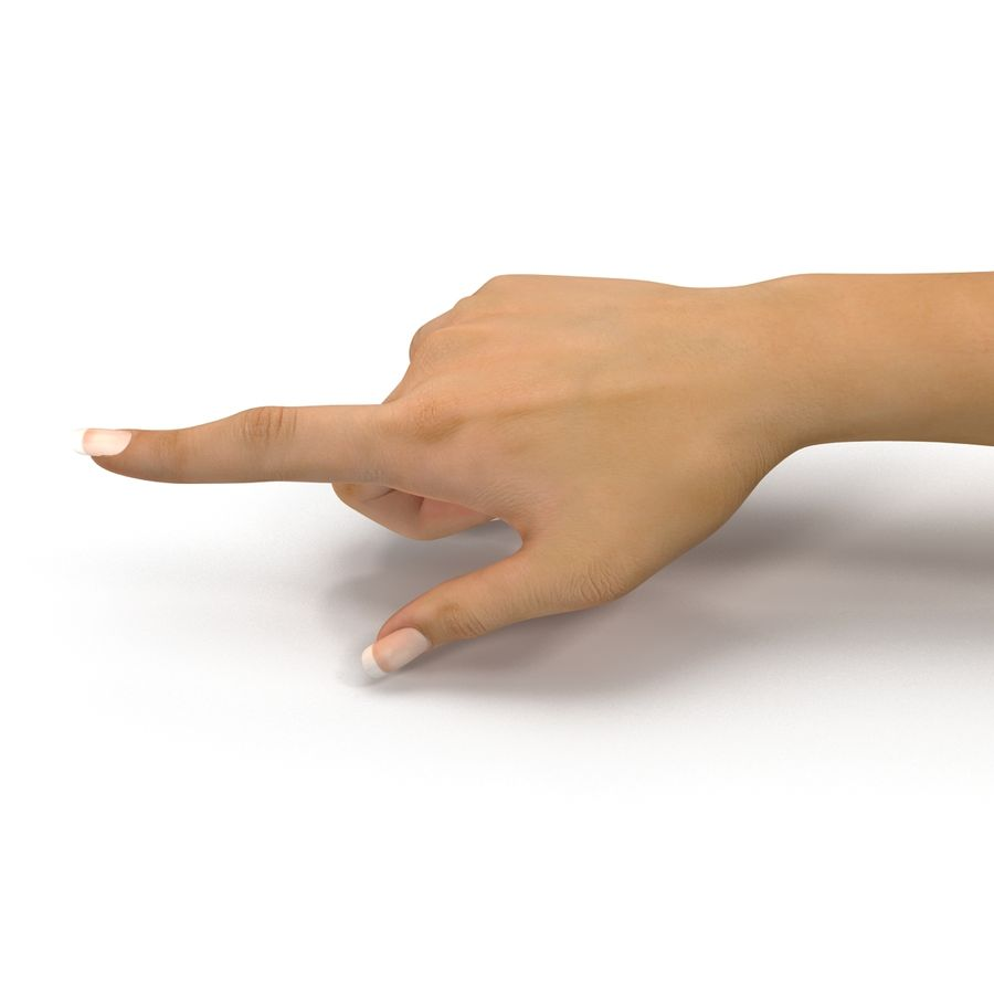 Main femelle truquée pour Maya royalty-free 3d model - Preview no. 25