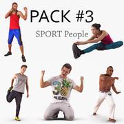 Коллекция спортивных людей 3d model